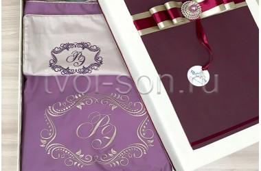 Свадебное постельное белье из высококачественного сатина