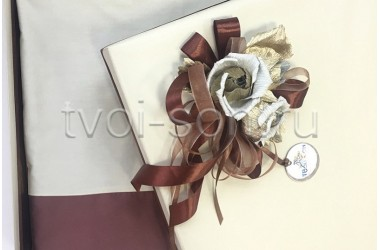 Постельное белье из хлопкового сатина в коробке