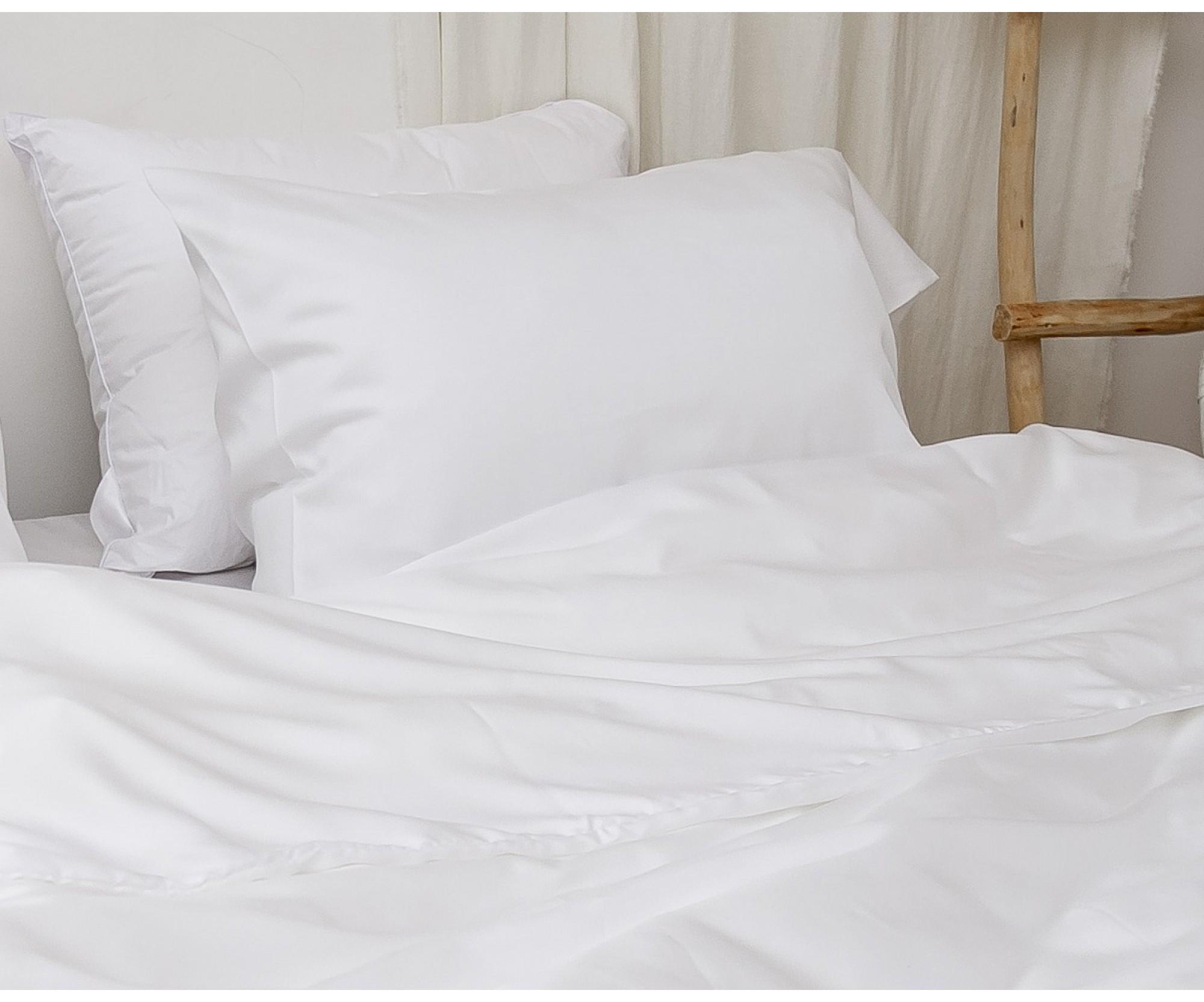 Постельное белье круглое «Белый тенсель»
