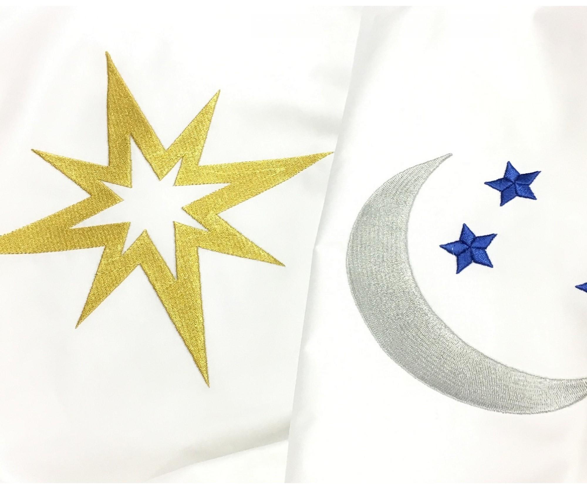 Постельное белье круглое  «Луна и звезды»