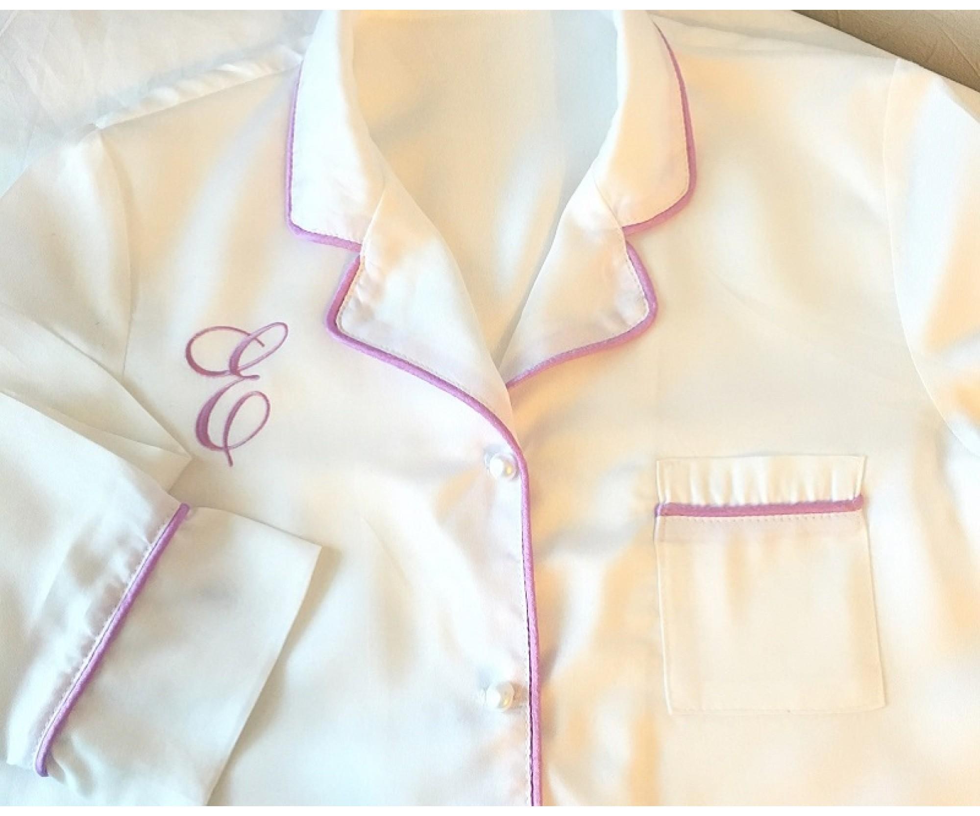 Пижама с лиловым кантом